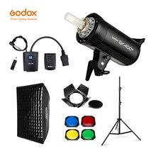 GODOX SK400II 400Ws GN65 Professional Studio แฟลช Strobe + 2.8m Light Stand + 60x90 ซม.Softbox + trigger + Barn ประตูชุด