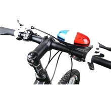 Bike-Bell Trumpet Siren Cycle-Lamp Police 6-Led-Light Waterproof Electronic Red/blue