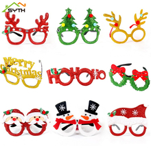 Christmas-Party-Decoration Cute No for Kids Adults Xmas Frame Eyeglasses Glittered No-Lens