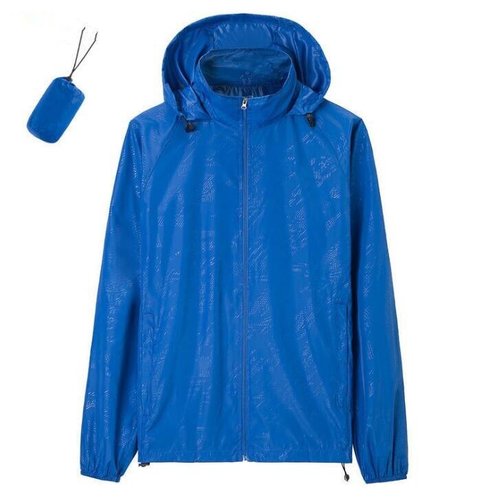 2019 New Summer Women And Men's Rain Jackets Coats Fashion Ladies Long Sleeve Windproof Rain Coats S-4XL