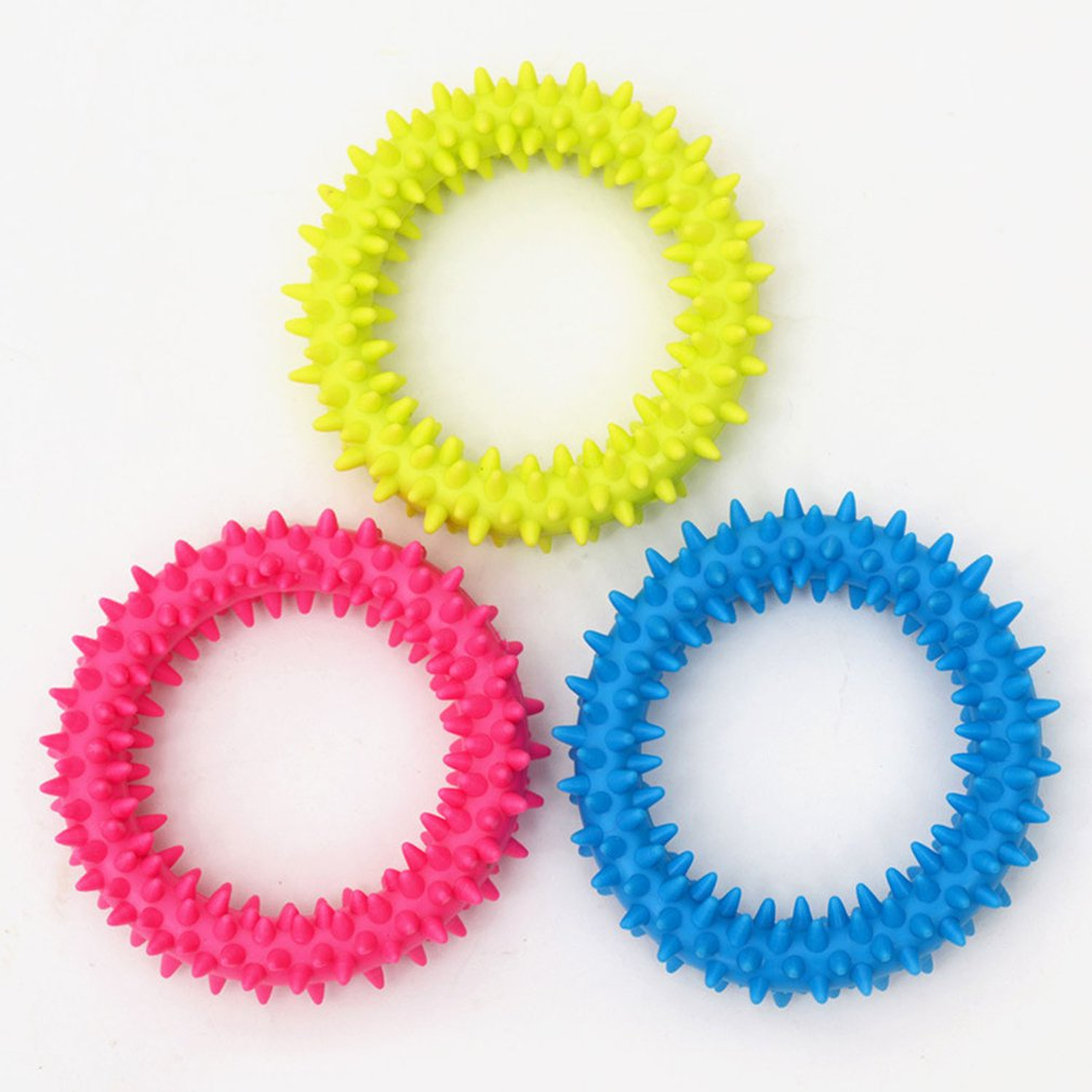 TPR Rubber Thorn Ring Circle Pet Toy Color Random daily supplies health and beauty personal care products