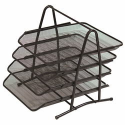 Metal Mesh File Shelf A4 Paper Office Mesh Document File Magazine Paper Letter Tray Organizer Holder Office School Supplies