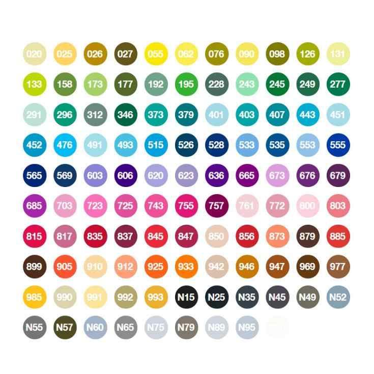 Rotuladores de pincel para AB-T, rotuladores de pincel suave, 108 colores, doble cabezal, ABT, caligrafía, acuarela profesional, rotuladores, pintura