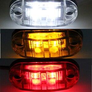 Image 4 - 10 PC 24/12 V LED Side MARKER ไฟกระพริบสำหรับรถบรรทุกรถพ่วง Piranha Caravan Side Clearance MARKER LIGHT amber สีแดงสีขาว