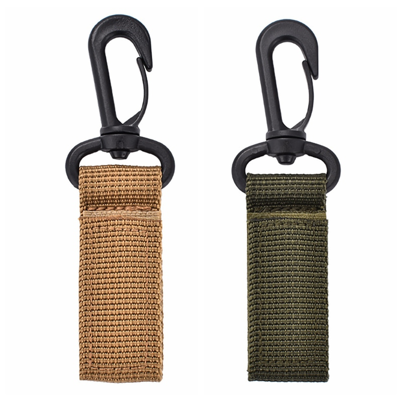 Outdoor (Tactical) Molle Webbing Buckle Climbing Belt Swivel Carabiner Clip Hunting Camping Hanging Backpack Key Hook Clasp