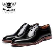 Desai Oxford erkekler elbise ayakkabı hakiki deri İtalyan resmi ayakkabı parti klasik siyah yüksek kore 2020