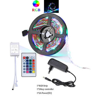 10M 5M LED Strip Light 60leds/m RGB 5050 SMD 2835 Flexible Ribbon led light strip RGB Tape Diode IP20 12V Remote Control Adapter image