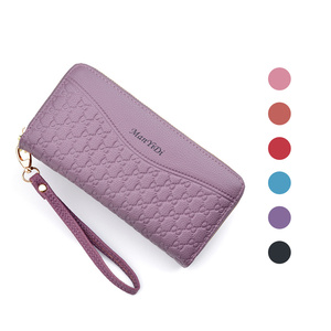 2020 Korean Style Fashion Long Pu Leather women Plaid Wallets For Woman Wallet Purse Clutch Credit Card Holder Women's Wallet