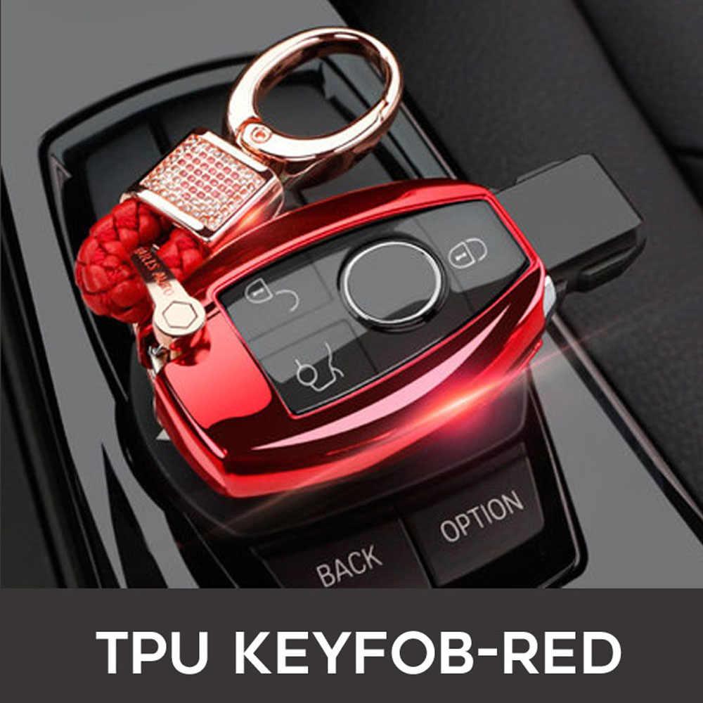 Acessórios do carro chave Do Carro Da Tampa Do caso Conjunto 2 3 Botões Para Mercedes benz W212 W251 W463 E260L S320 GLK300 A180 a200 fob Chave Bolsa