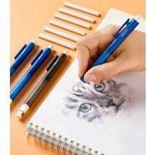 Imprensa tipo borracha borracha conjunto com recarga clássico caneta de apagamento para correção lápis escritório escola material estudante a6813