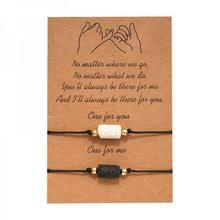 Bracelet en pierre volcanique, 2 perles pour Couples d'amitié, bijoux porte-bonheur pour femmes et hommes, nouvelle collection