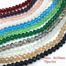 4mm/6mm/8mm/10mm Crystal Rondel Beads Glass Faceted for Jewelry Making Accessories Translation Diy
