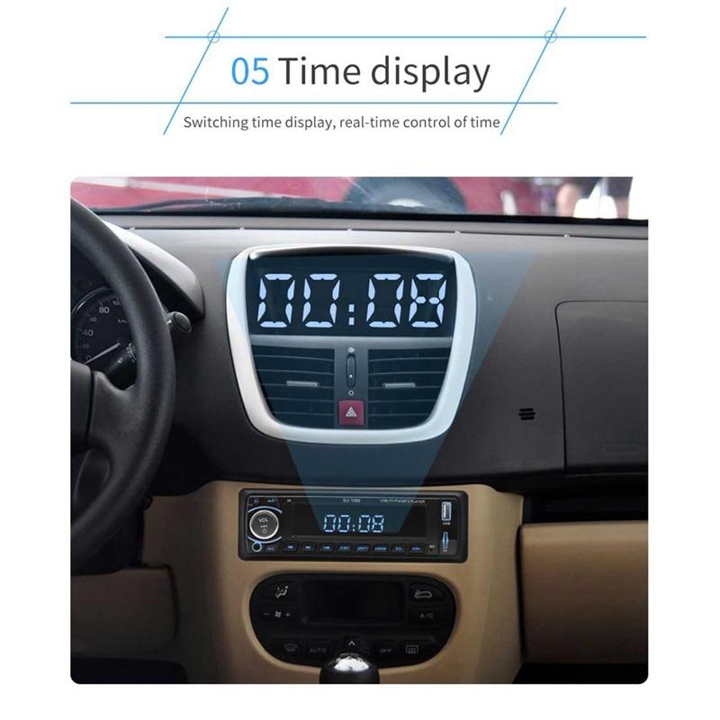 12V автомобиль радио Bluetooth стерео Mp3 плеер Fm Радио Вход Aux Usb автомобильное радио плеер Su-1089