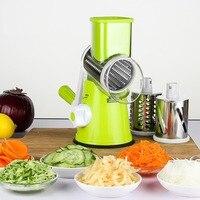 Multifunktionale Gemüse Schredder Hand Trommel Dreh Reibe Shred Kartoffel Slicer Roller Form Edelstahl Kurbel Griff