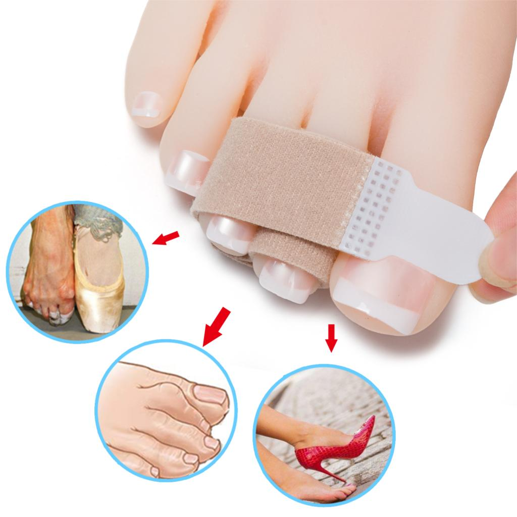 Hammer Elastic Toe Separator Corrector Wrap Splints Tape For Overlapping Toe Hand Protector Cushioned Bandages C1459