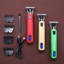 Men Cordless Hair Clipper Barber Professional Buddha Dragon Electric Hair Cutting Machine Beard Shaving Hair Trimmer Styling Kit