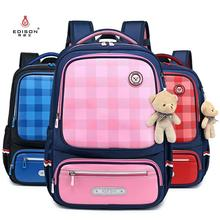 Edison Schoolbags For Boys and Girls School Backpack Children Backpack Kids Bags Waterproof Backpack Mochila Send Bear Pendant