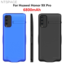 лучшая цена NTSPACE 6800mAh Battery Cases For Huawei Honor 9X Pro Backup Power Bank Charging Case For Huawei Honor 9X Power Case With Holder