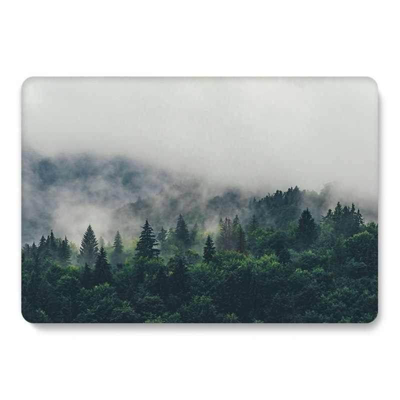 Orman kılıf Macbook Air 13 için A1466 A1369 mermer Glitter temizle Laptop kapak için Macbook Air 13 inç A1932 A2179 2018 2020 kılıfları