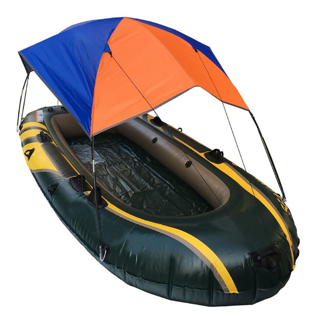 Foldable Canopy for Inflatable Boat 2/3/4 Person Camping Fishing Tent Sun Shade Inflatable Boat Awnings Canopy Tent Sun Shelters