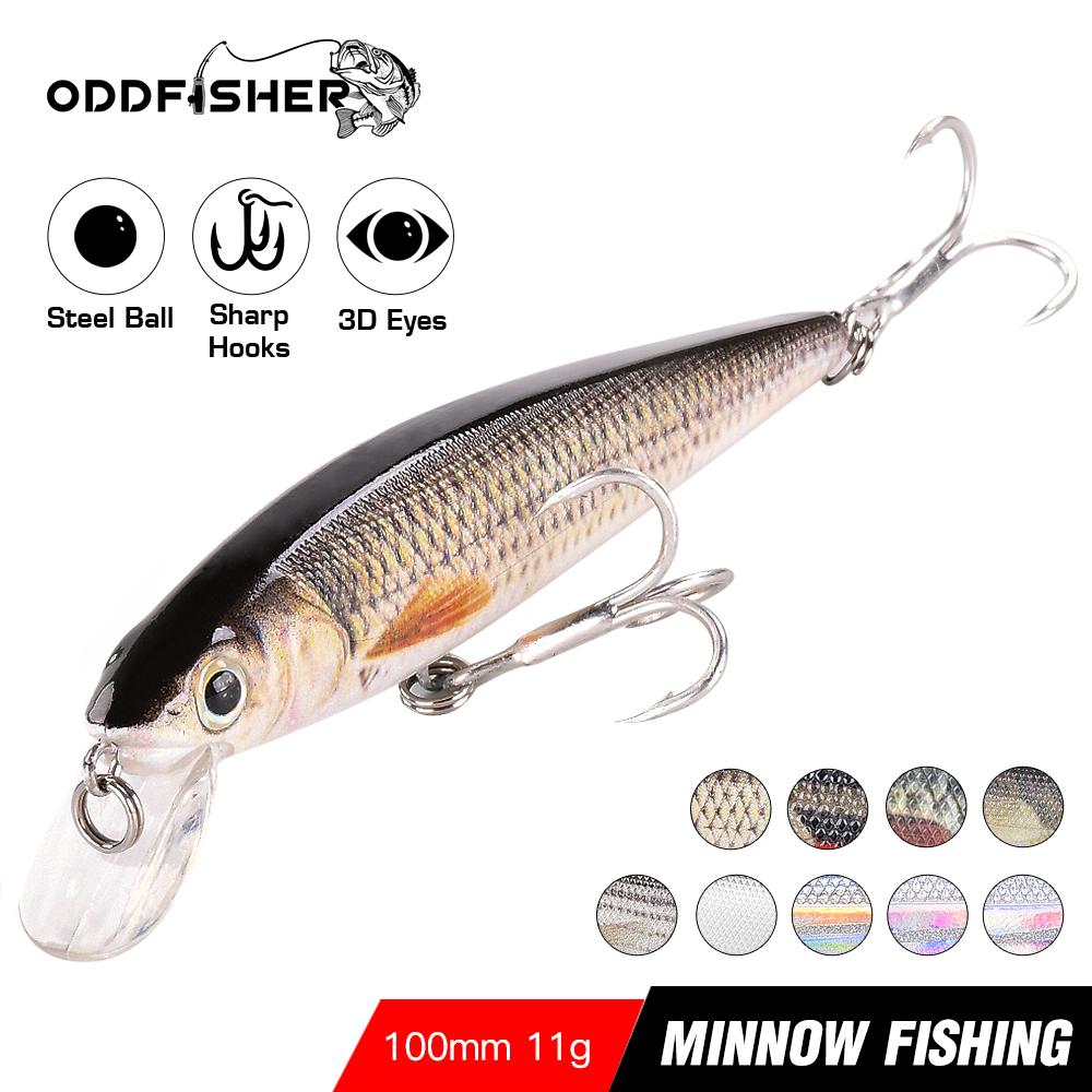 10cm 11g Minnow Wobbler Fishing Lure for Pike 1