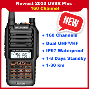Image 1 - 2020 Newest Baofeng UV 9R Plus Walkie talkie two way radio vhf uhf 30 50km long range Ham CB radio station UV9R Plus 160 Channel