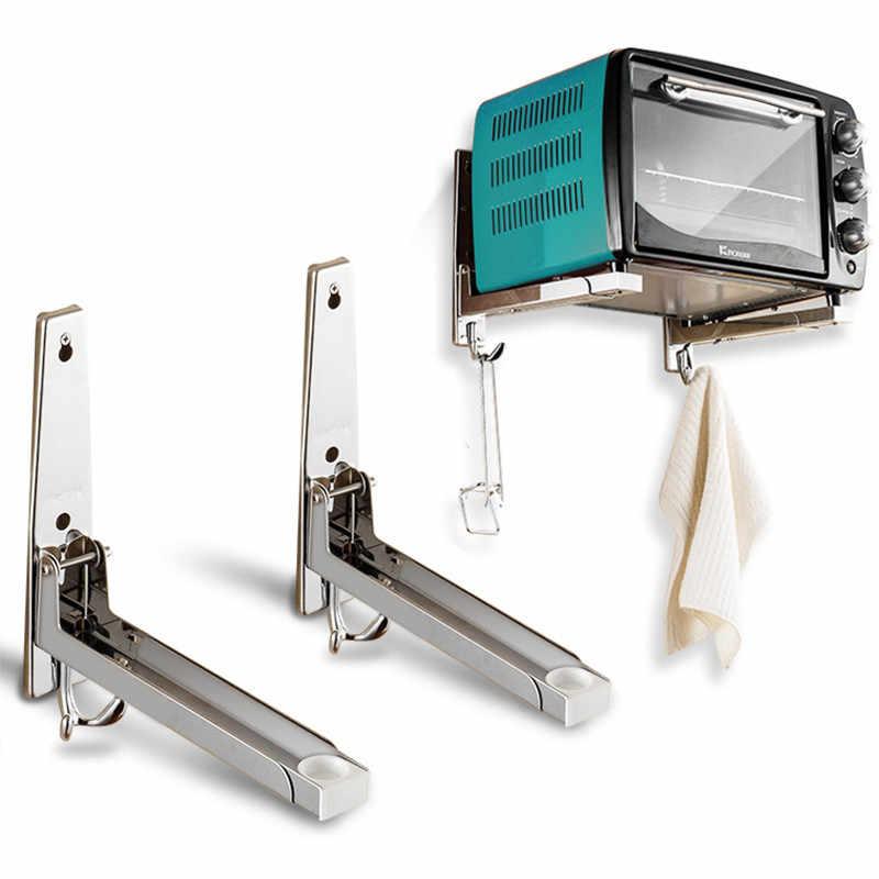 1pcs stainless steel microwave oven bracket adjustable oven wall mount bracket holder household kitchen storage shelf support