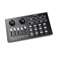 Mini Sound Mixer Board for Live Streaming Voice Changer Sound Card  For Computer N0HC