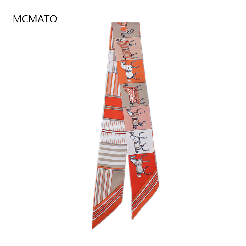 New Arrivals Bag Scarf Horse Print Silk Scarf Women Headband Small Bag Ribbon Fashion Hair Fashion Handbag Scarves Luxury