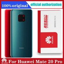 Recambio de carcasa trasera Original para Huawei Mate 20 Pro, cristal de batería con pegatina adhesiva para lente de cámara