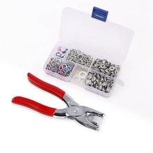 110pcs push buttons 5 hollow / solid claws + clip storage box
