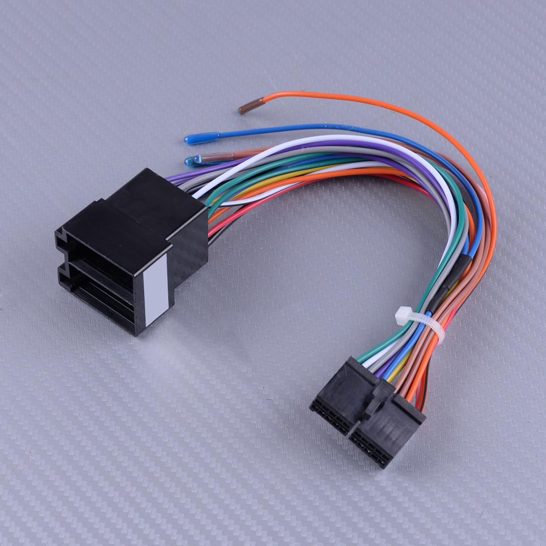 DWCX 20 Pins Plastic ISO Wiring Harness Connector Adaptor Fit For ISO Android Car Stereo Lead