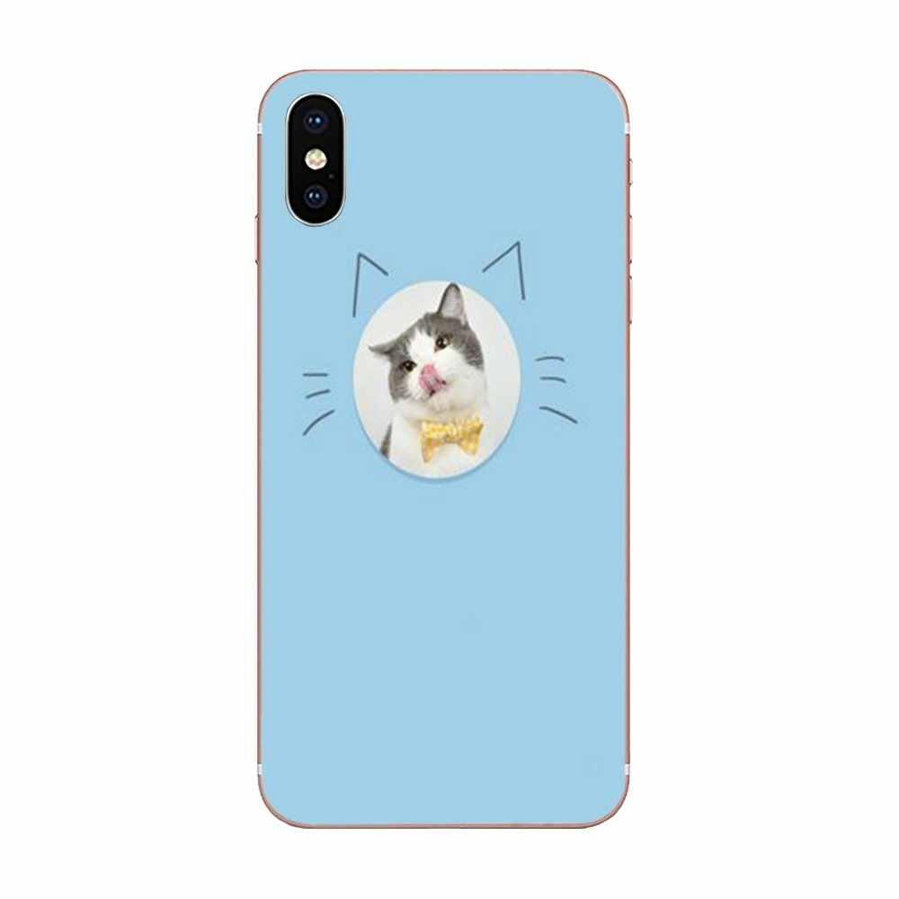 น่ารัก Emoji แมว Mew สำหรับ Galaxy J1 J2 J3 J330 J4 J5 J6 J7 J730 J8 2015 2016 2017 2018 mini Pro Soft TPU โทรศัพท์มือถือ