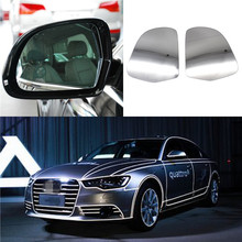 For Audi A3/S3 A4/S4 A5 A6 A8 Q3 2008-2016 Car Mirror Glass Left Side Car Wide Car Wide Angle Heated Rearview Door Mirror 1Pair 2 pieces car rearview mirror rain shade eyebrow universal waterproof soft gum fit for audi a4 a6 a1 a3 a5 a8 a7 s1 s3 s4 s6 s7