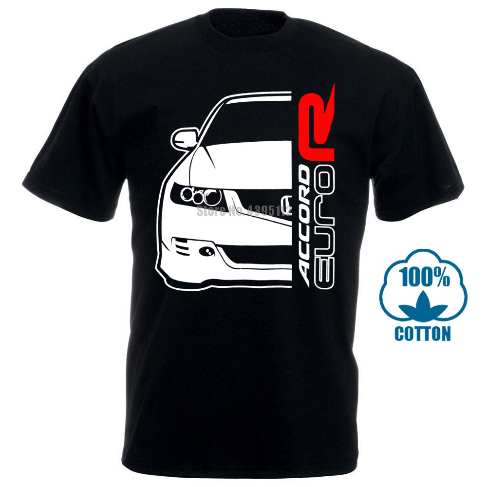 2018 Fashion Summer T Shirt Classic Japanese Car Fans Accord Cl7 Euro R Tee Shirt