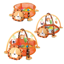 Game-Blanket Pool Crawling-Mat Fitness-Frame Play Baby Cartoon 3-In-1 Tortoise Lion-Ocean-Ball