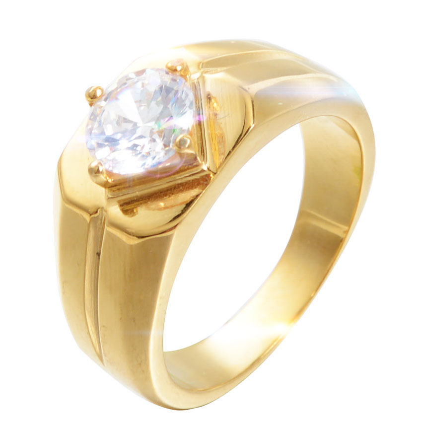 Simple Style Gold Silver Color Wedding Rings With Beautiful Zircon Engagement Rings Jewelry Men Women Fine Wedding Ring Jewelry Wedding Bands Aliexpress