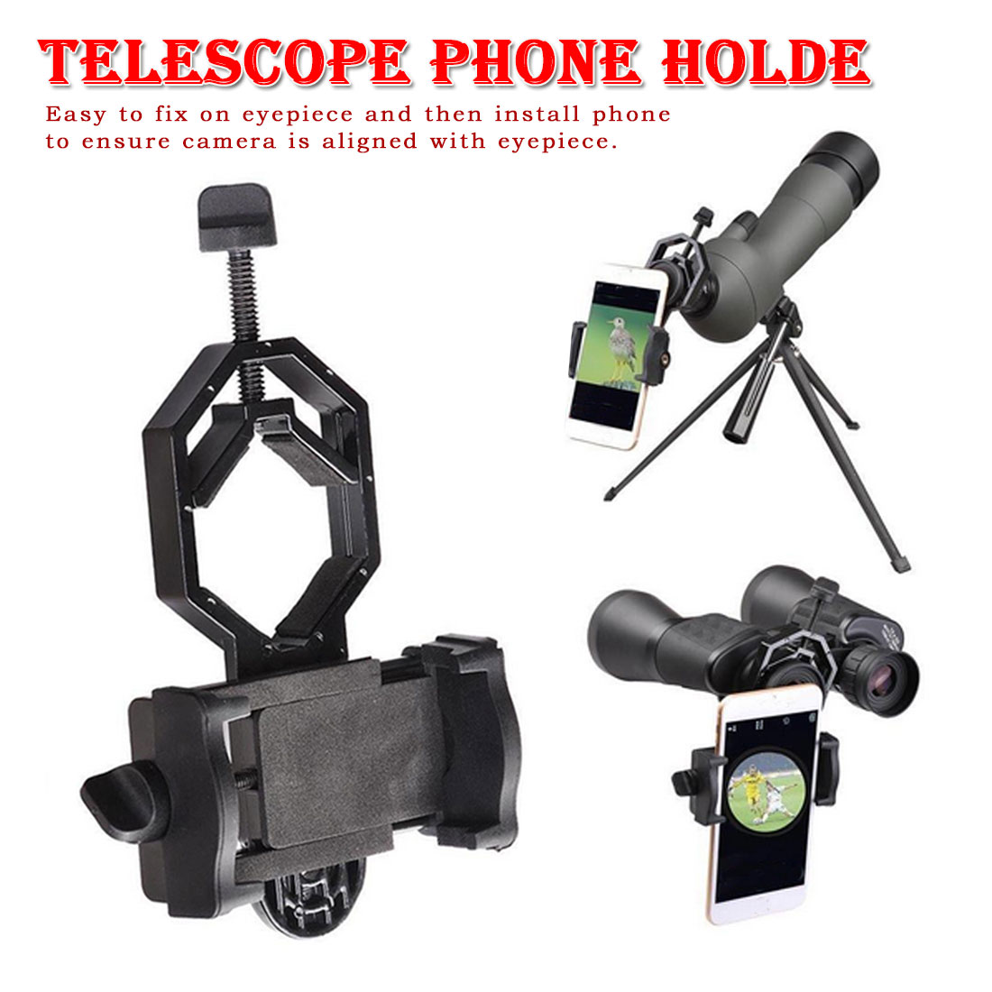 Adapter Mount Monocular Binoculars Adapter Multifunction Telescope phone holder Universal Cell Phone