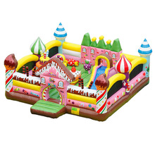 Trampoline Jumper Playground Commercial-Grade Outdoor Inflatable Castle Park Slide-Combo