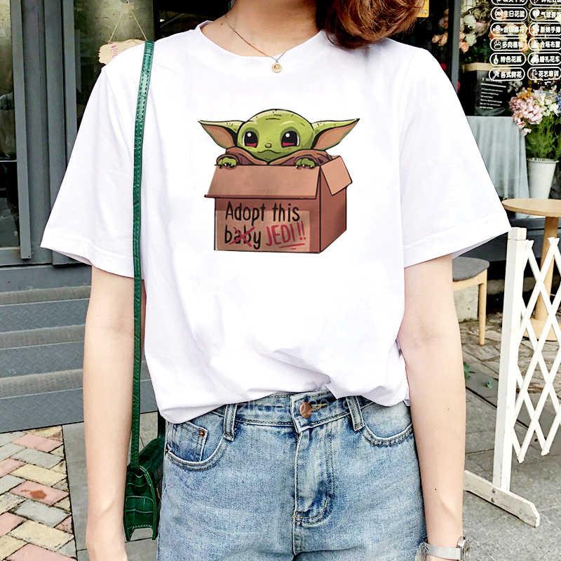 Camiseta Michelangelo Twin Peaks para mujer, camisetas casuales para hombre, camiseta de manga corta para bebé Yoda, camisetas femeninas con cuello de hip hop, camisetas 2pac