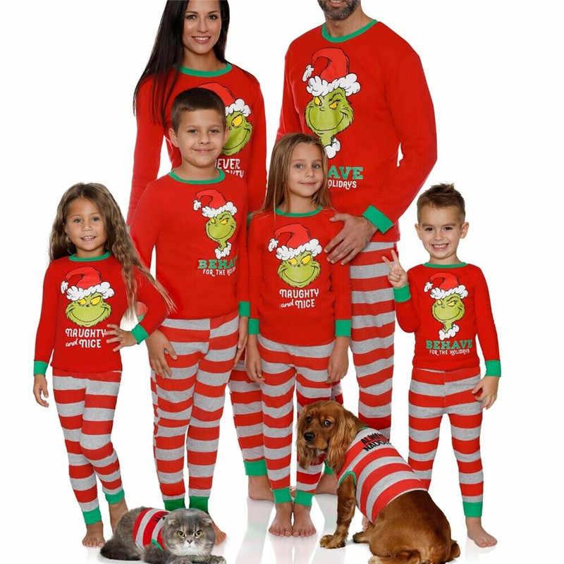 CHRISTMAS PAJAMA SET UNISEX  XMAS PAJAMA SET Xmas Dinosaur Matching Set