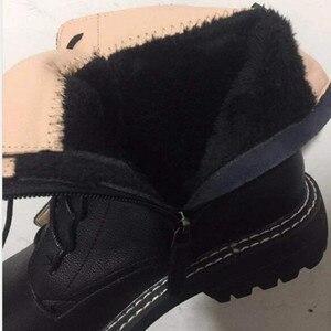 Image 5 - AIYUQI 부츠 여성 2020 정품 가죽 여성 부츠 레이스 화이트 겨울 여성 신발 미끄럼 방지 소녀 마틴 부츠