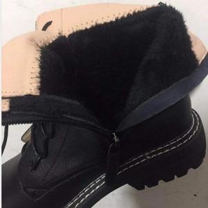 Image 5 - Aiyuqiブーツ女性2020本革の女性のブーツレースアップホワイト冬の女性の靴ノンスリップ女の子マーチンブーツ