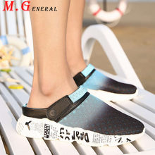 Summer Women's Sandals Women 2020 Fashion Slip-on Beach Slippers Casual Mesh Hole Woman Shoes Couple Garden Shoes Plus Sizes C72(China)