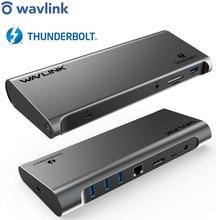 Estación de acoplamiento con pantalla Thunderbolt 3, USB C, 4K, Gigabit, Ethernet, entrega de energía, 85W, trabajo en estudio en línea en casa