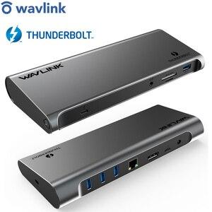 Image 1 - [Intel Zertifiziert] Thunderbolt 3 USB C 4K Display Docking Station Gigabit Ethernet Power Lieferung 85W Für PC Laptop Fenster Mac OS