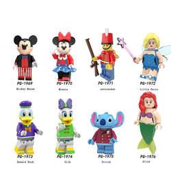 Disney legoed Стич, Дональд Дак Микки Минни мини-фигурка Вуди Джесси игрушечные инопланетяне Базз Лайтер строительные блоки игрушки для детей