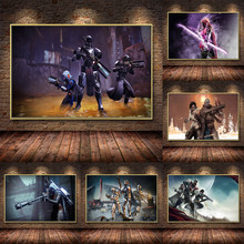 HD Destiny 2 Game Oil Painting on Canvas Posters and Prints Cuadros Wall Art Pictures For Living Room Home Decor 2pic set paris city landmarks and cars modern painting hd prints on canvas wall art for living room canvas printings home decor