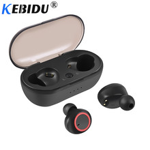Kebidu TWS Bluetooth 5.0 Earphone Bass Headset with Mic Mobile Phone Gaming Headsets for Xiaomi Airdots  iPhone Samsung