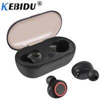 Kebidu TWS Bluetooth 5.0 אוזניות בס אוזניות עם מיקרופון נייד טלפון משחקי אוזניות לxiaomi Airdots iPhone סמסונג